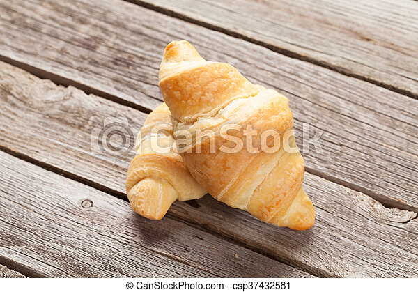 Fresh homemade croissants - csp37432581