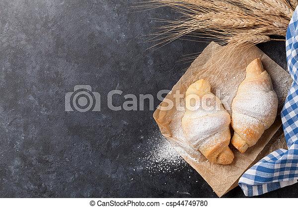 Fresh homemade croissants - csp44749780