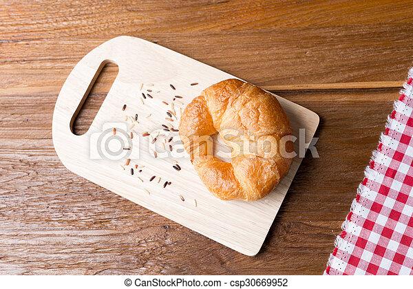 Fresh homemade croissants - csp30669952