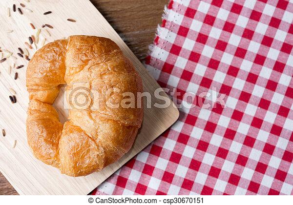 Fresh homemade croissants - csp30670151