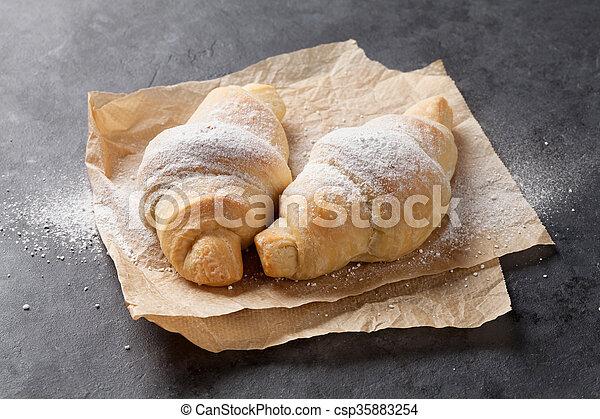 Fresh homemade croissants - csp35883254