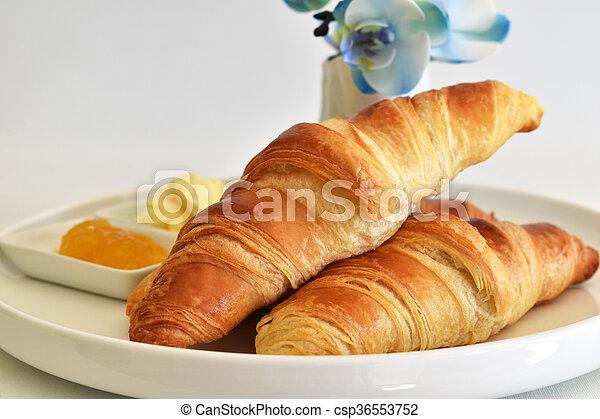 fresh homemade croissants - csp36553752