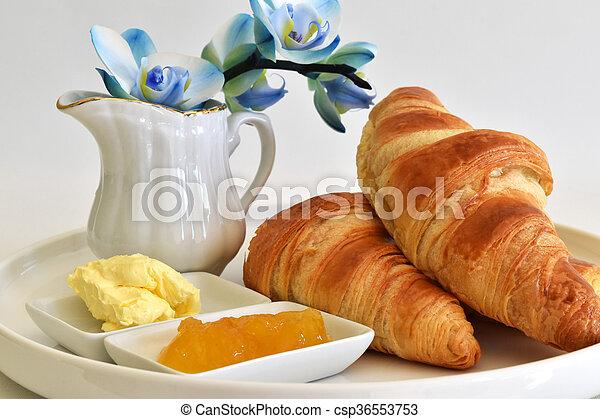 fresh homemade croissants - csp36553753