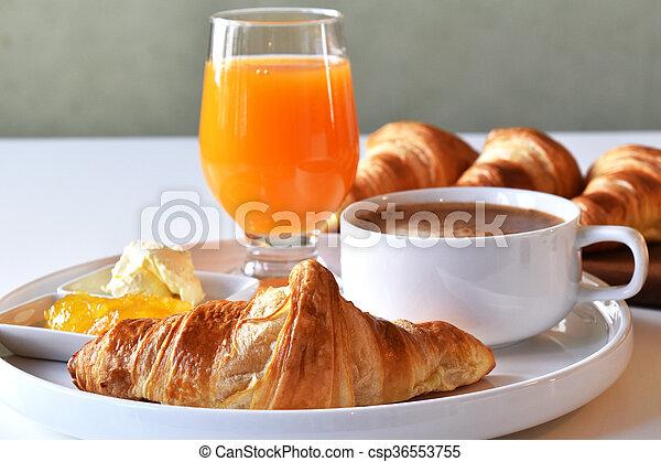 fresh homemade croissants - csp36553755