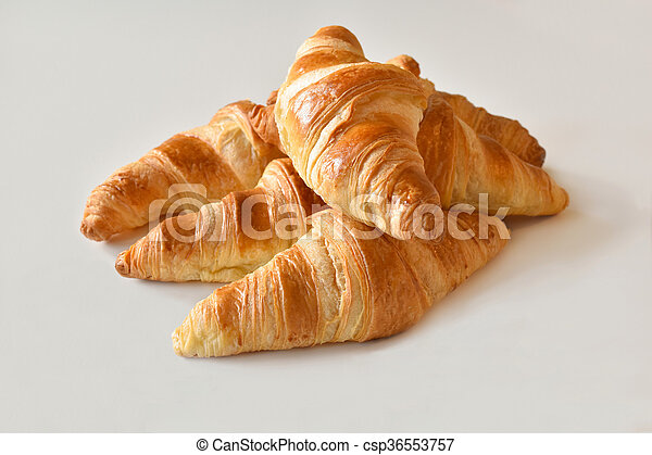 fresh homemade croissants - csp36553757