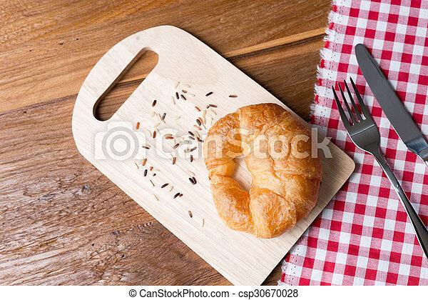Fresh homemade croissants - csp30670028