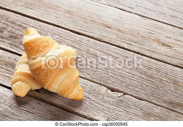 Fresh homemade croissants - csp36092845