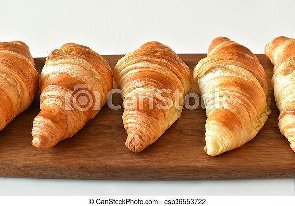 fresh homemade croissants - csp36553722