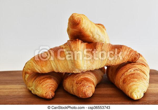 fresh homemade croissants - csp36553743