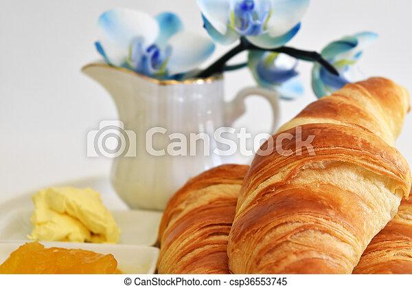 fresh homemade croissants - csp36553745