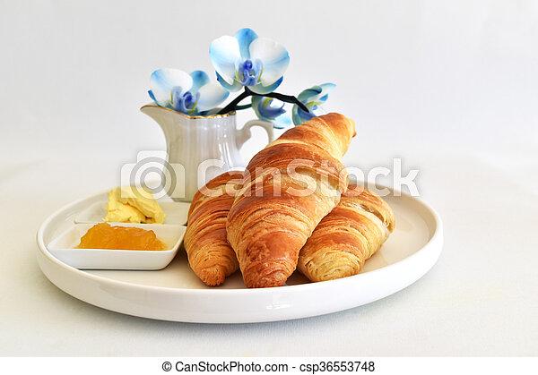 fresh homemade croissants - csp36553748