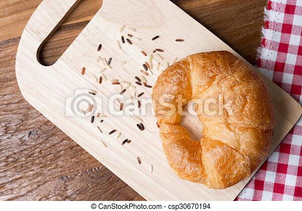Fresh homemade croissants - csp30670194