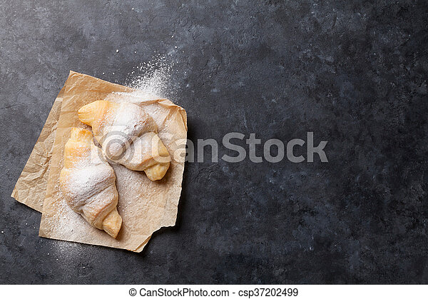 Fresh homemade croissants - csp37202499