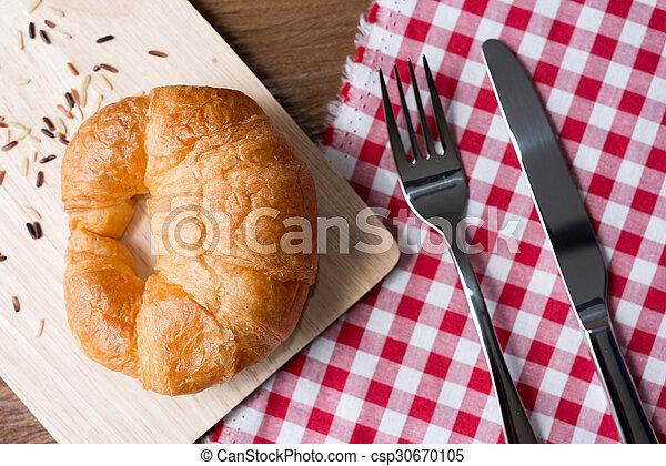 Fresh homemade croissants - csp30670105