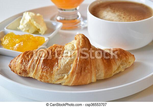 fresh homemade croissants - csp36553707