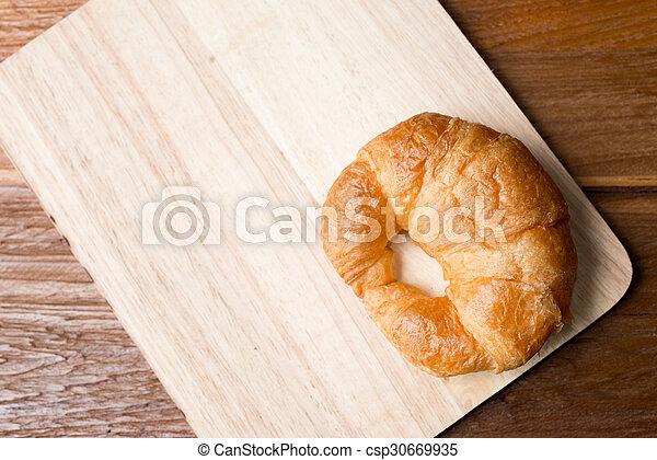 Fresh homemade croissants - csp30669935