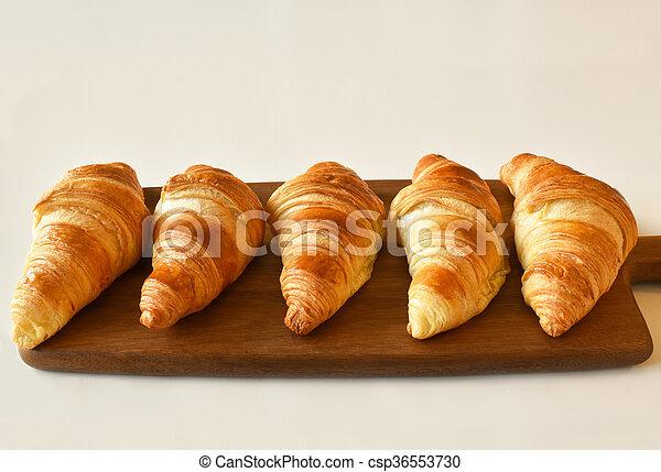 fresh homemade croissants - csp36553730