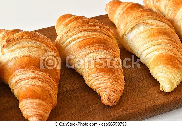 fresh homemade croissants - csp36553733
