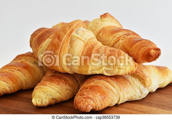 fresh homemade croissants - csp36553739