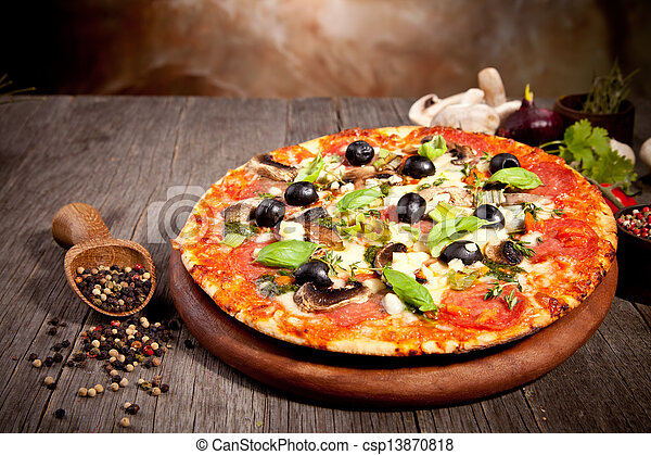 Fresh italian pizza - csp13870818
