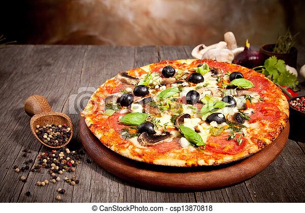 Fresh italian pizza - csp13870818