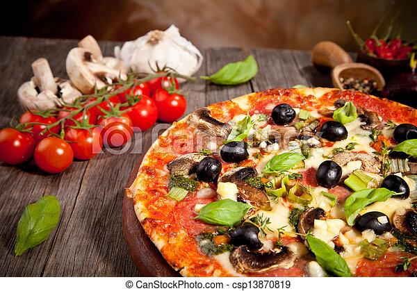 Fresh italian pizza - csp13870819