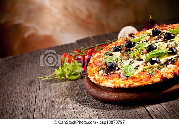 Fresh italian pizza - csp13870797
