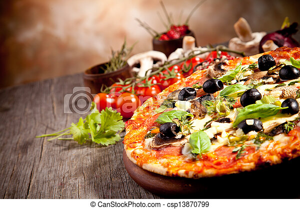 Fresh italian pizza - csp13870799