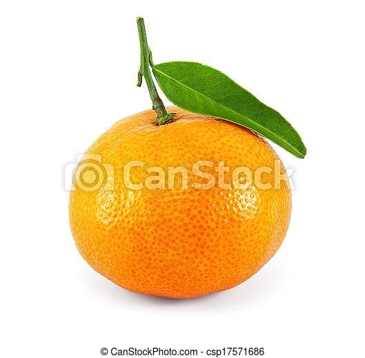 Fresh juicy tangerine - csp17571686