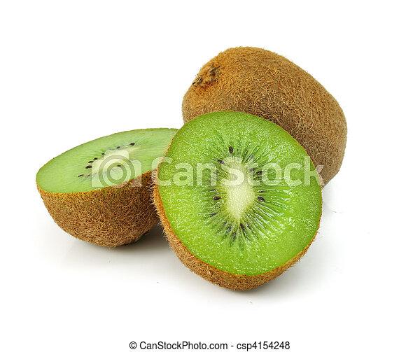 fresh kiwi fruit isolated on white - csp4154248
