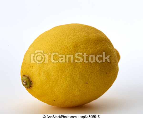 Fresh lemon isolated on white background - csp64595515