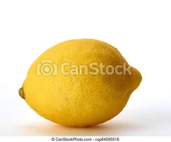 Fresh lemon isolated on white background - csp64595516