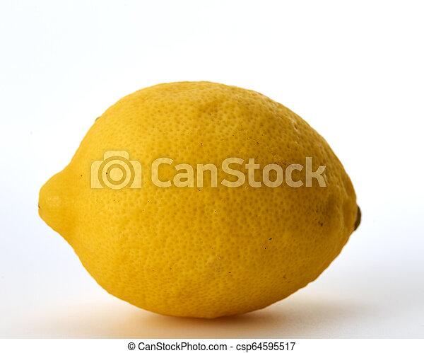 Fresh lemon isolated on white background - csp64595517