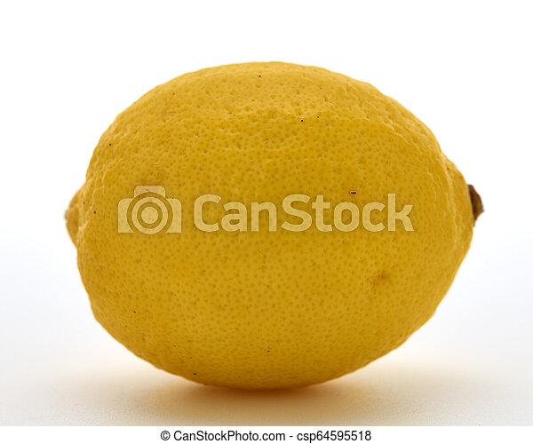 Fresh lemon isolated on white background - csp64595518