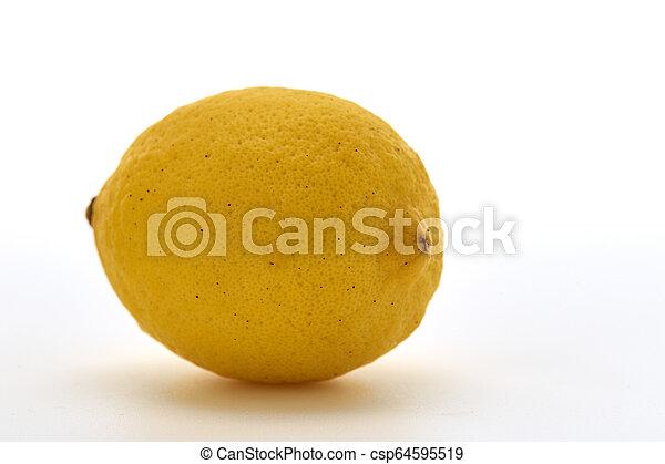 Fresh lemon isolated on white background - csp64595519