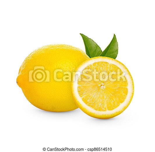 Fresh lemon isolated on white background - csp86514510