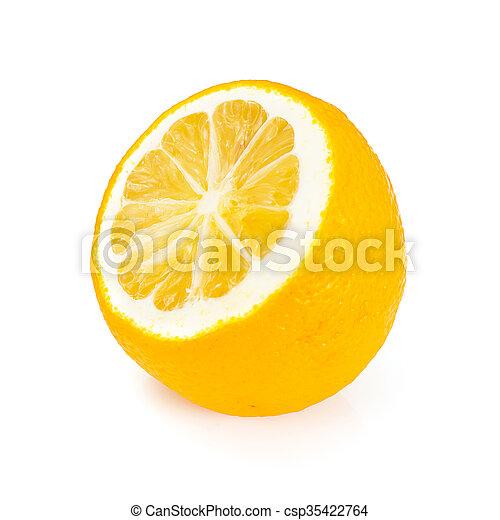 Fresh Lemon Isolated on White Background - csp35422764