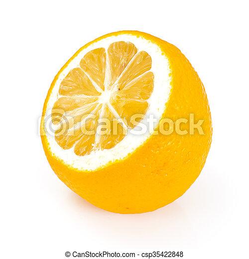 Fresh Lemon Isolated on White Background - csp35422848