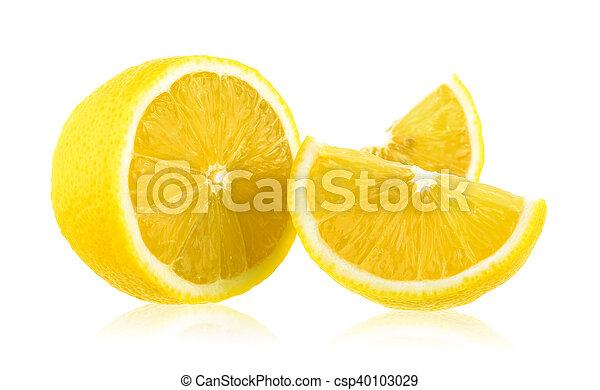 fresh lemon isolated on white background - csp40103029
