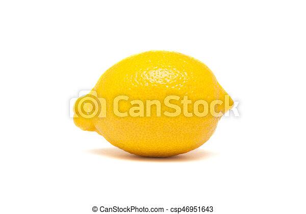 Fresh lemon isolated on white background - csp46951643