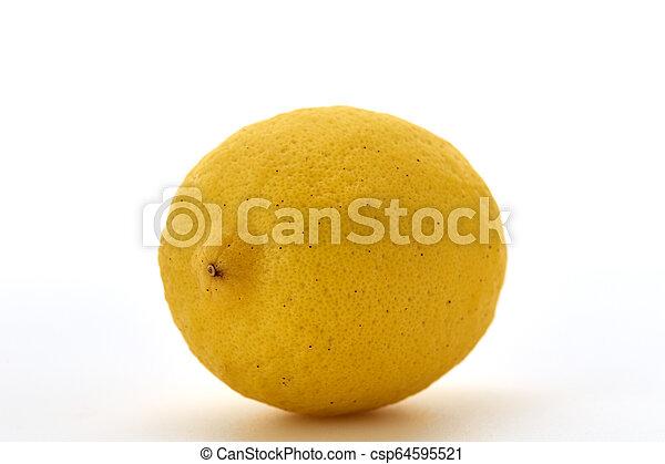 Fresh lemon isolated on white background - csp64595521
