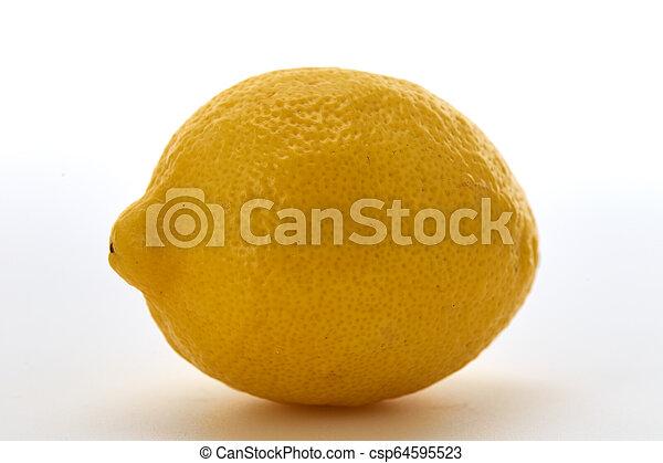 Fresh lemon isolated on white background - csp64595523
