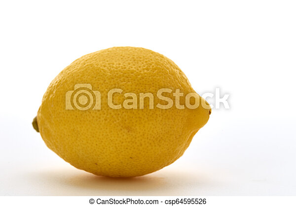 Fresh lemon isolated on white background - csp64595526