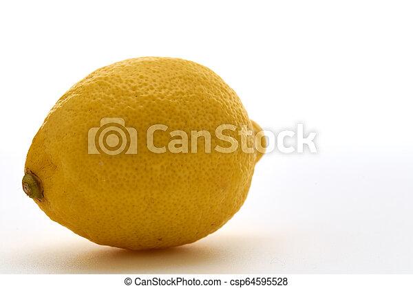 Fresh lemon isolated on white background - csp64595528