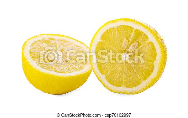 Fresh lemon isolated on white background - csp70102997