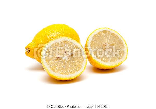 Fresh lemon isolated on white background - csp46952934