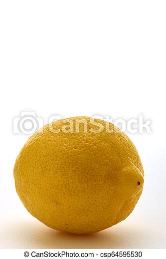 Fresh lemon isolated on white background - csp64595530