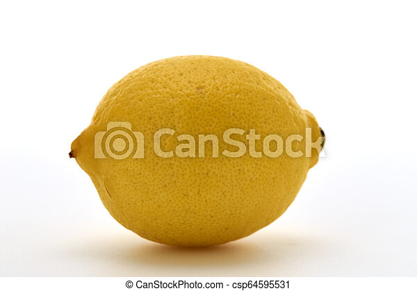 Fresh lemon isolated on white background - csp64595531