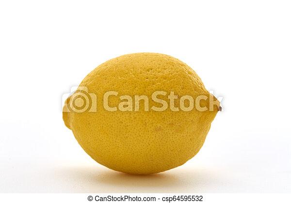 Fresh lemon isolated on white background - csp64595532