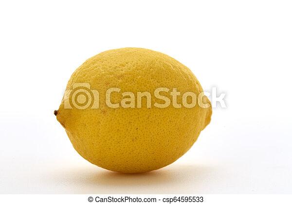 Fresh lemon isolated on white background - csp64595533
